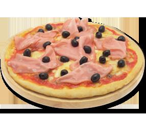 mortadella pizza as the fatty mortadella sweats a pizza topped with ...
